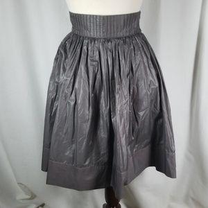 Zara Woman Polished Cotton Blend A-Lined Skirt